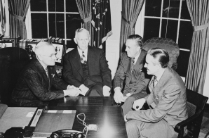 Marshall Plan Discussion in the Oval Office