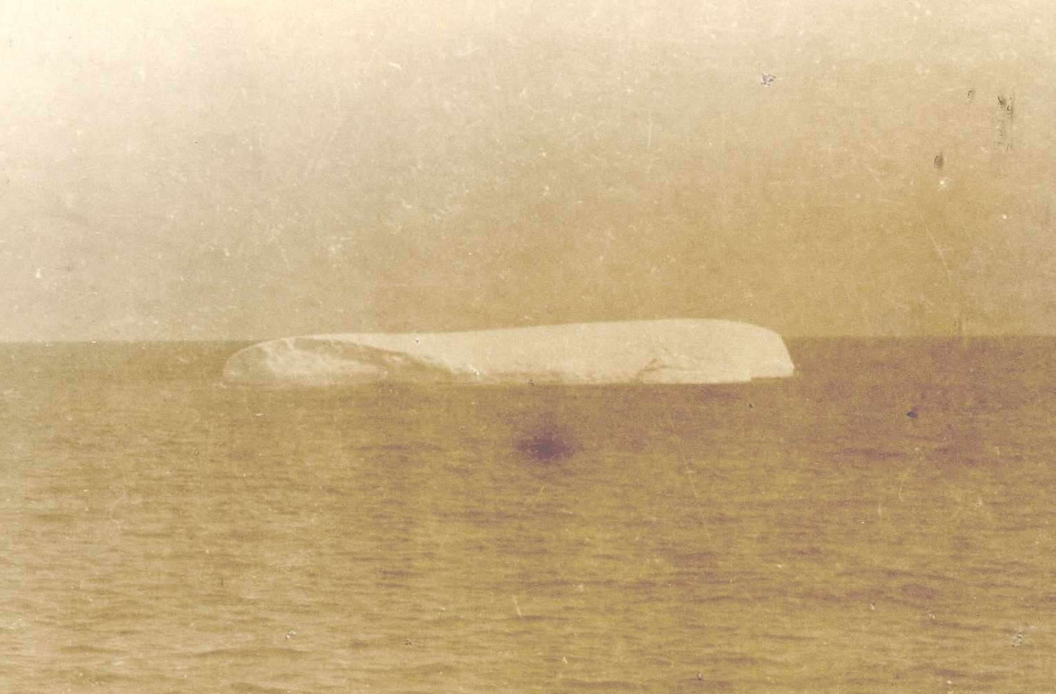 A Photograph of an Iceberg Floating Near the Site of the Titanic Sinking