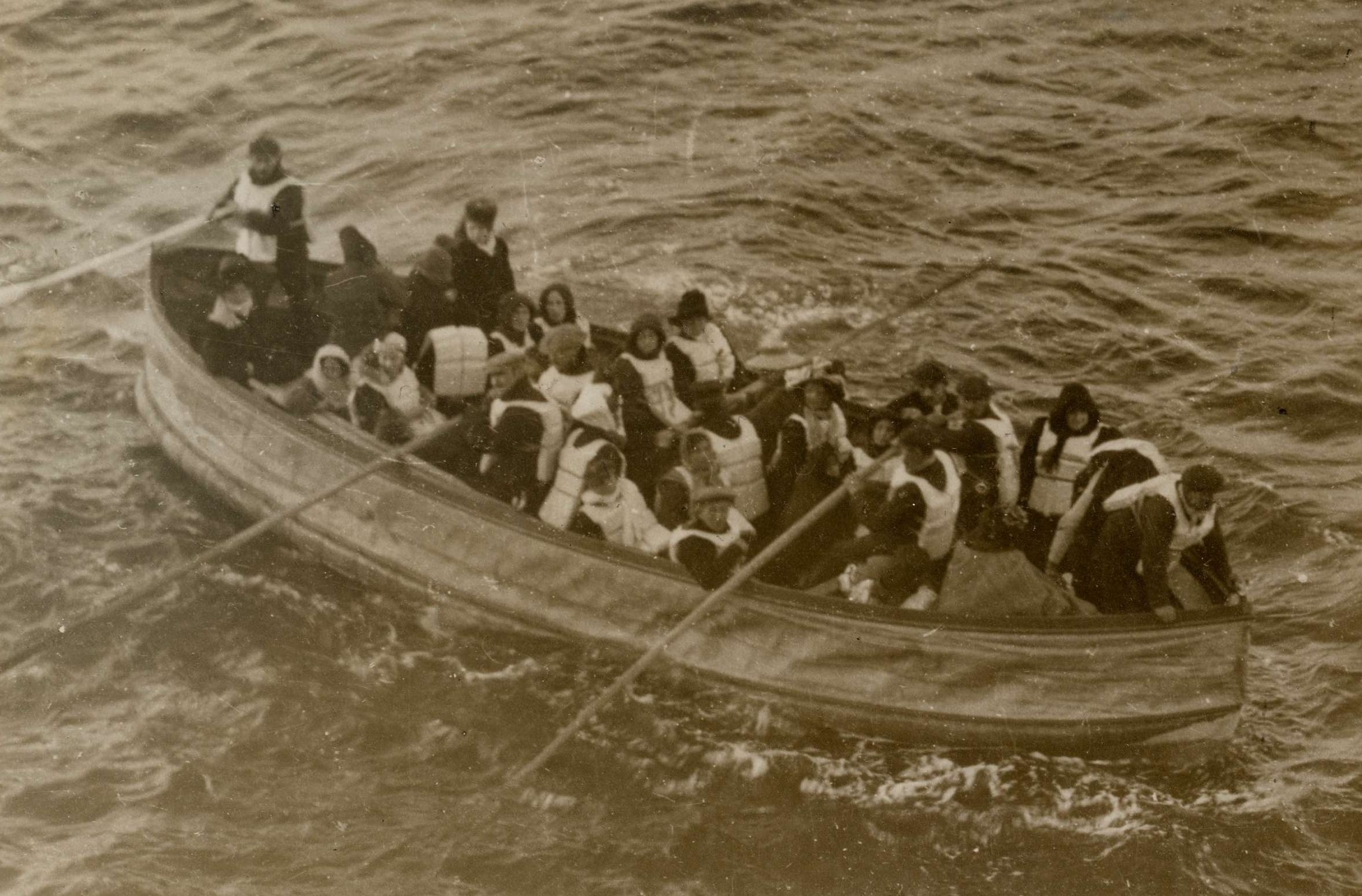 Lifeboat Carrying Titanic Survivors