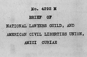 Amici Curiae Brief of the National Lawyers Guild and ACLU in Mendez v. Westminster