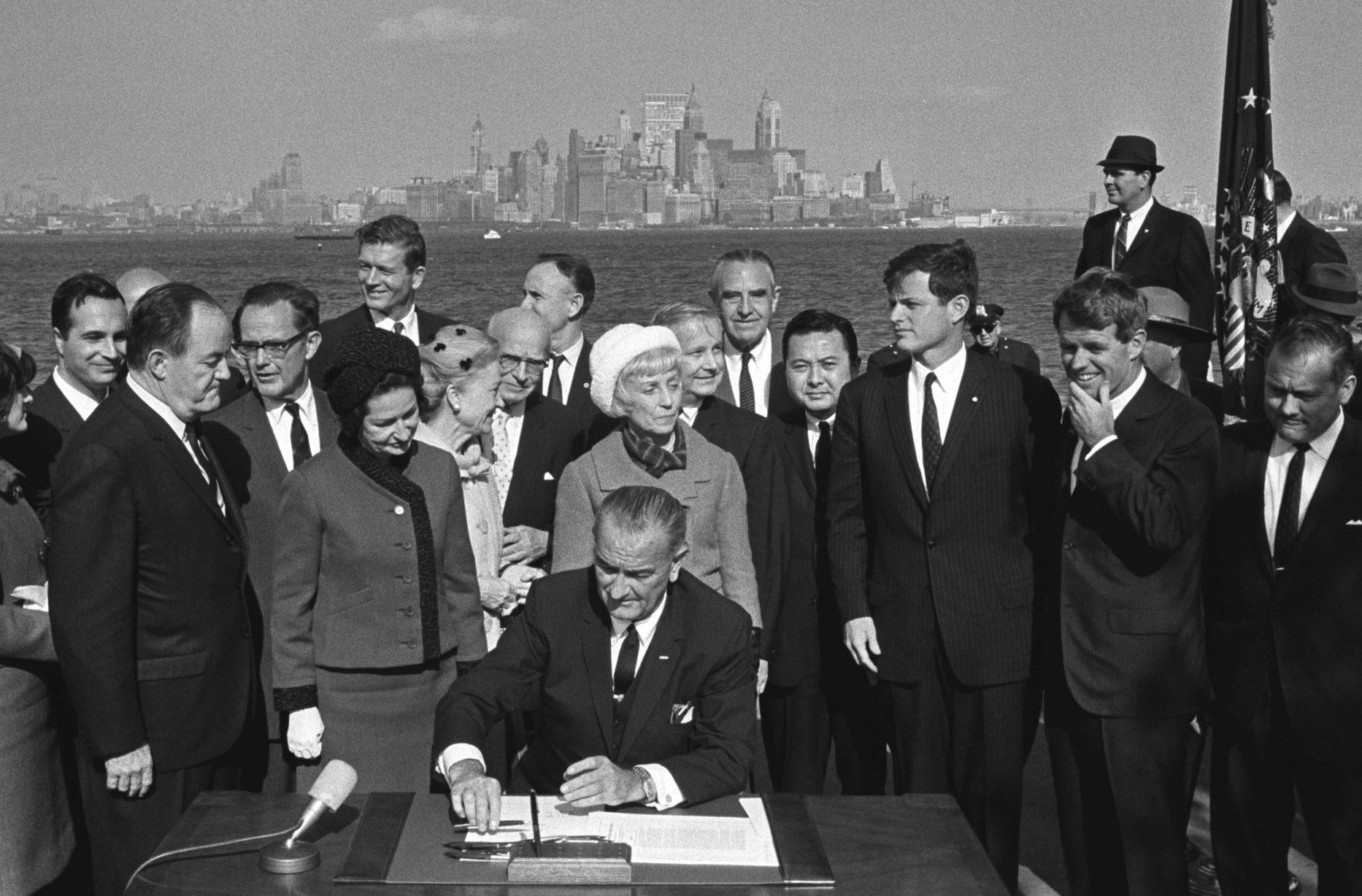 President Lyndon B. Johnson Signing the Immigration Act