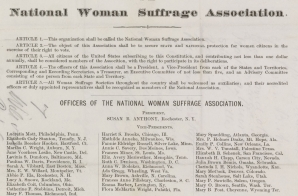 Petition to Congress from the National Woman Suffrage Association