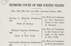 Opinion of the Court by Chief Justice Earl Warren in the Case of Miranda v. Arizona