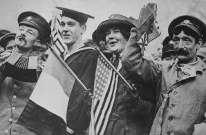 """Yanks and Tommies"" During the Armistice Celebration"