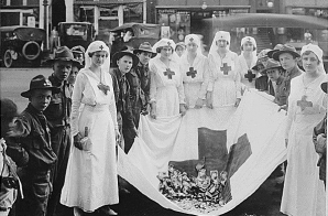American Red Cross Parade, Birmingham, Alabama. Birmingham View Company