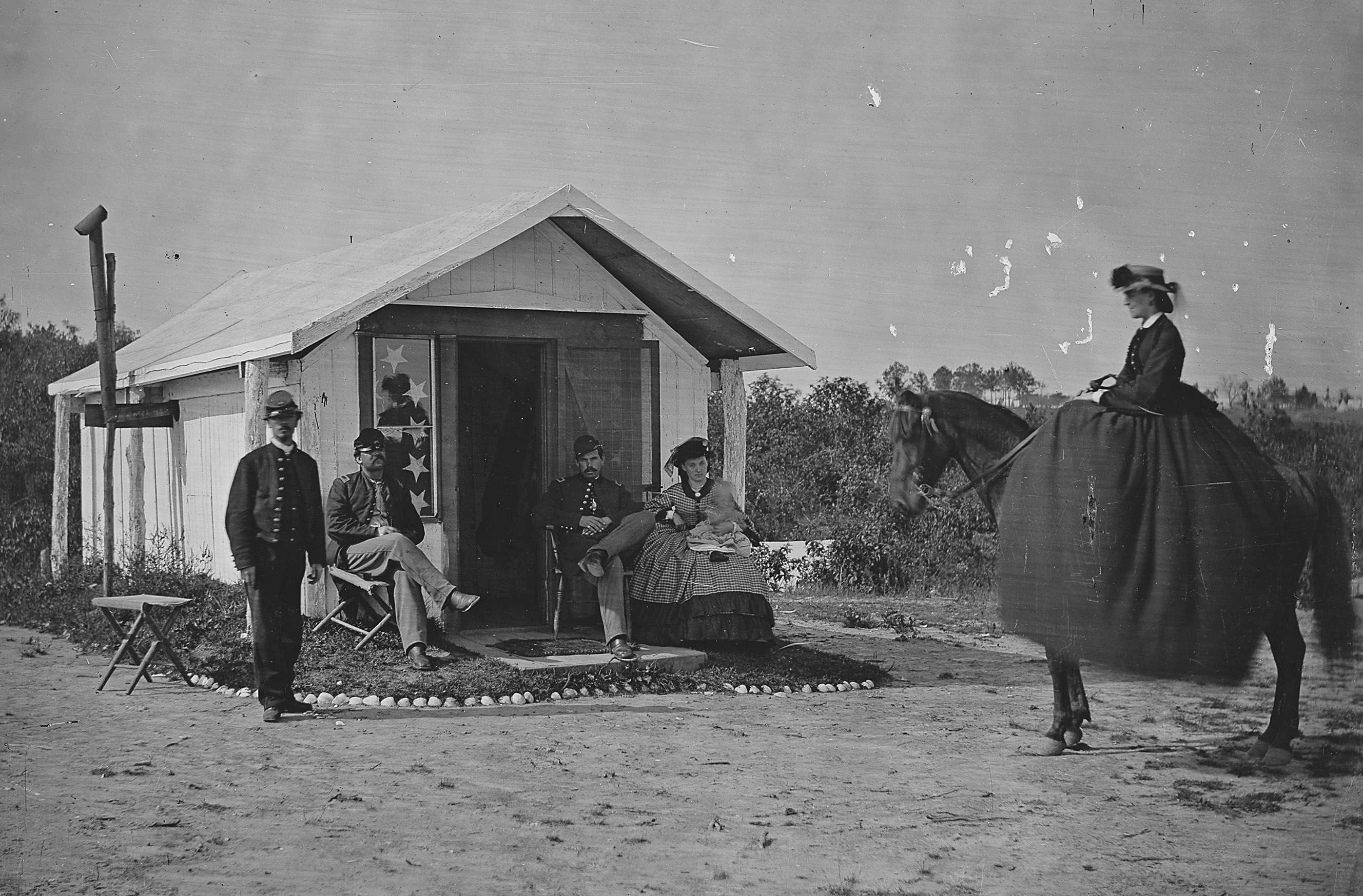 Camp Scene, Ladies in Camp