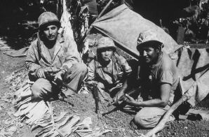 "Navajo ""Communication Men"" with the Marines on Saipan"