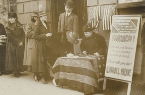 Women Enrolling in the War Effort
