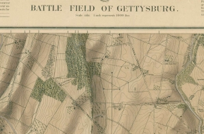 "Final Proof of ""Battle Field of Gettysburg"" Map"