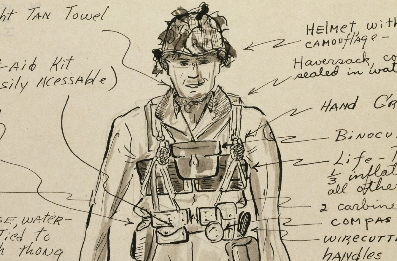 Sketch of a D-Day Dress - Platoon Leader
