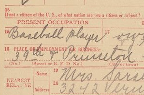 World War I Draft Registration Card for Andrew Rube Foster