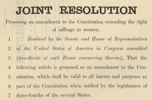 House Joint Resolution Regarding the 19th Amendment