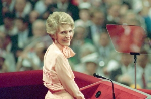 First Lady Nancy Reagan at the Republican National Convention, New Orleans, Louisiana