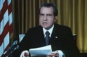 President Nixon Defends His Office on Watergate Charges