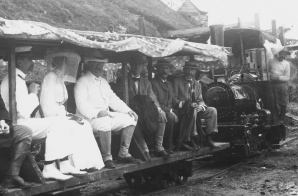 President Theodore Roosevelt Inspecting Canal Work from Decauville Train