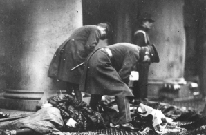 Police Officers with Victims of the Triangle Shirtwaist Factory Fire