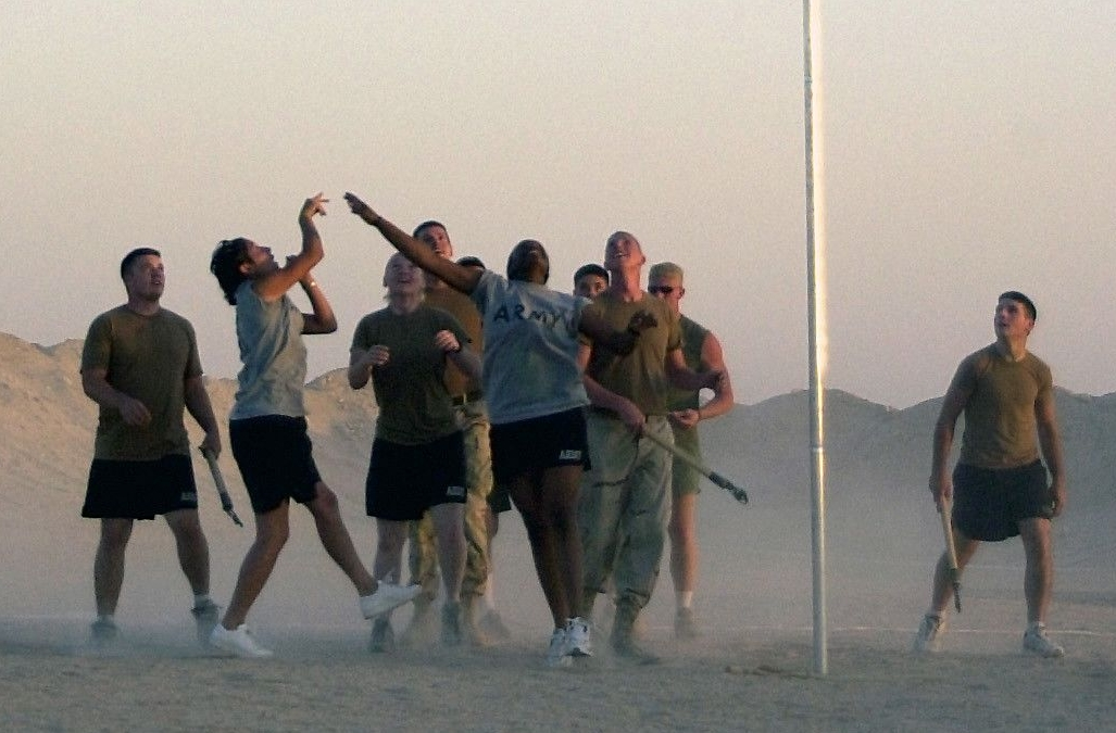 Stick Ball During an Inter-Tribal Pow Wow in Iraq