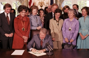 President Carter Signing Legislation for the Equal Rights Amendment