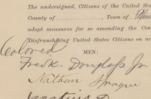Petition for Woman Suffrage from Frederick Douglass Jr. and Other Residents of the District of Columbia