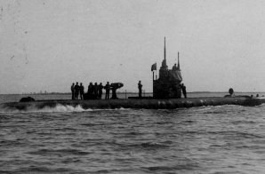Italian Submarine Leaving Venice on an Expedition