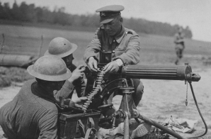 Americans Receiving Machine Gun Instruction