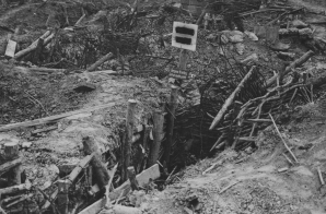 Abandoned German Front Line Trench on the Flanders Field