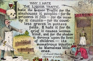 """Why I Hate the Liquor Traffic"" Postcard"