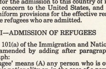 The Refugee Act of 1980