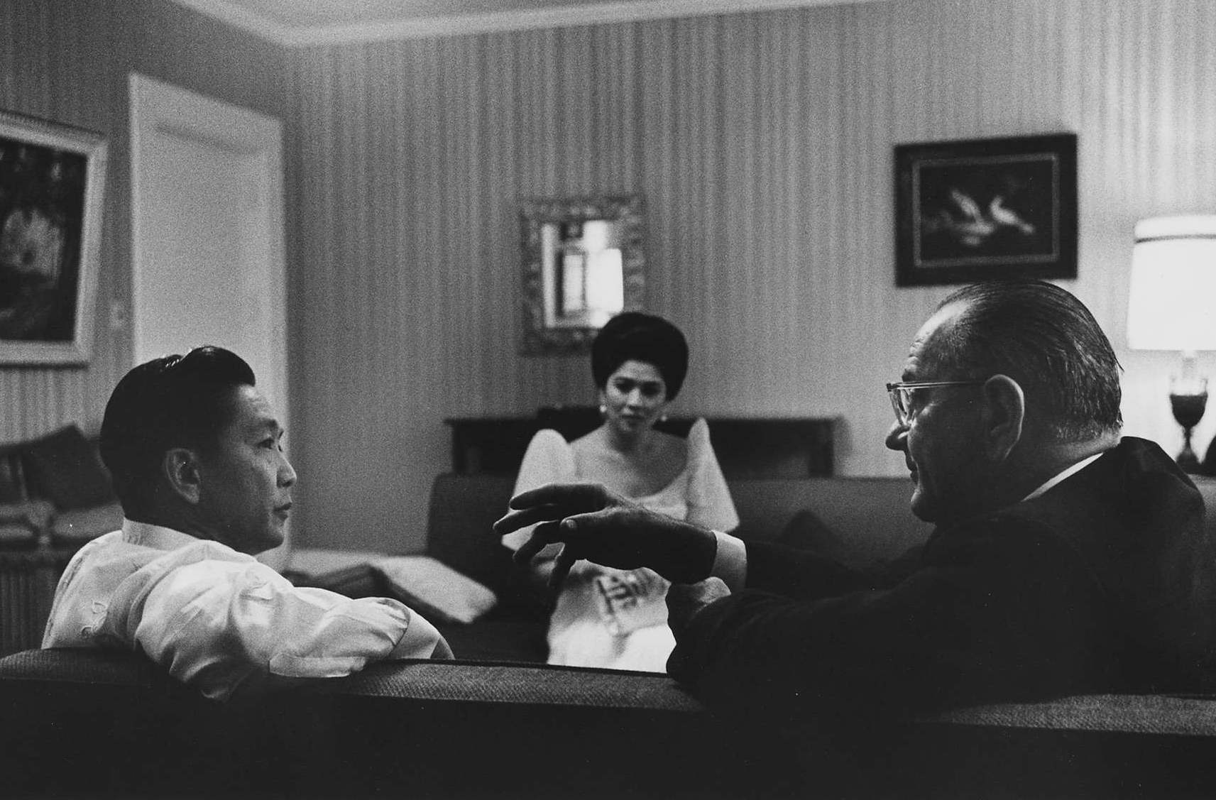 President and Mrs. Ferdinand Marcos with President Johnson