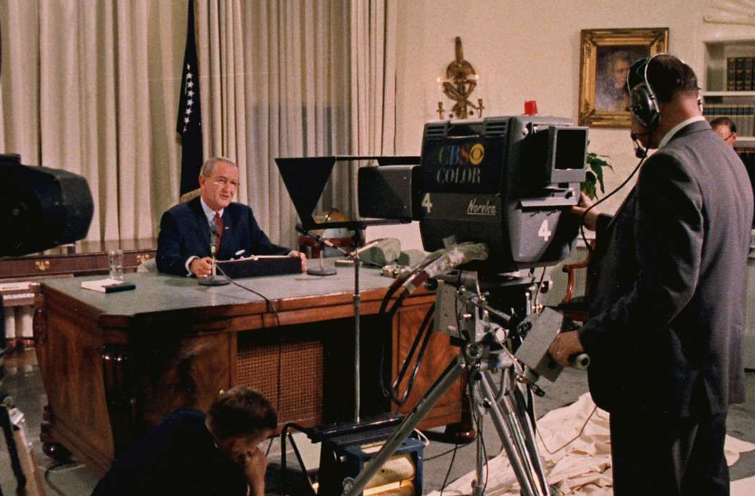 "President Johnson Giving his Vietnam ""Withdrawal Speech"""