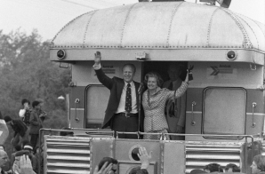 President Gerald Ford and First Lady Betty Ford During Primary Whistle-Stop Tour