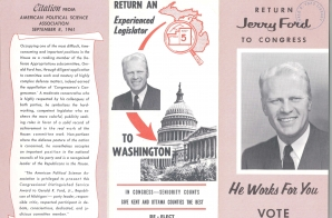 Brochure for Representative Gerald R. Ford