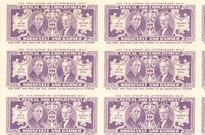 1932 Roosevelt Presidential Campaign Stamps