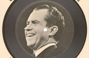 Nixon Election Campaign Novelty Record Album