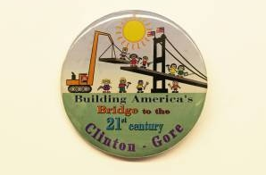 Clinton/Gore Political Button