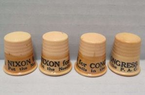 Nixon Election Campaign Novelty Thimbles