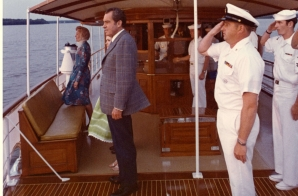 The Nixons Aboard the Presidential Yacht