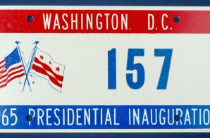 Washington D.C. 1965 Presidential Inauguration License Plate