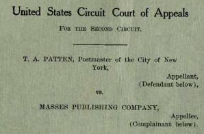 Opinion in Masses Publishing Company v. T. G. Patten