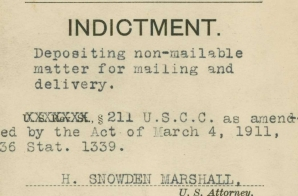 Indictment of Margaret H. Sanger