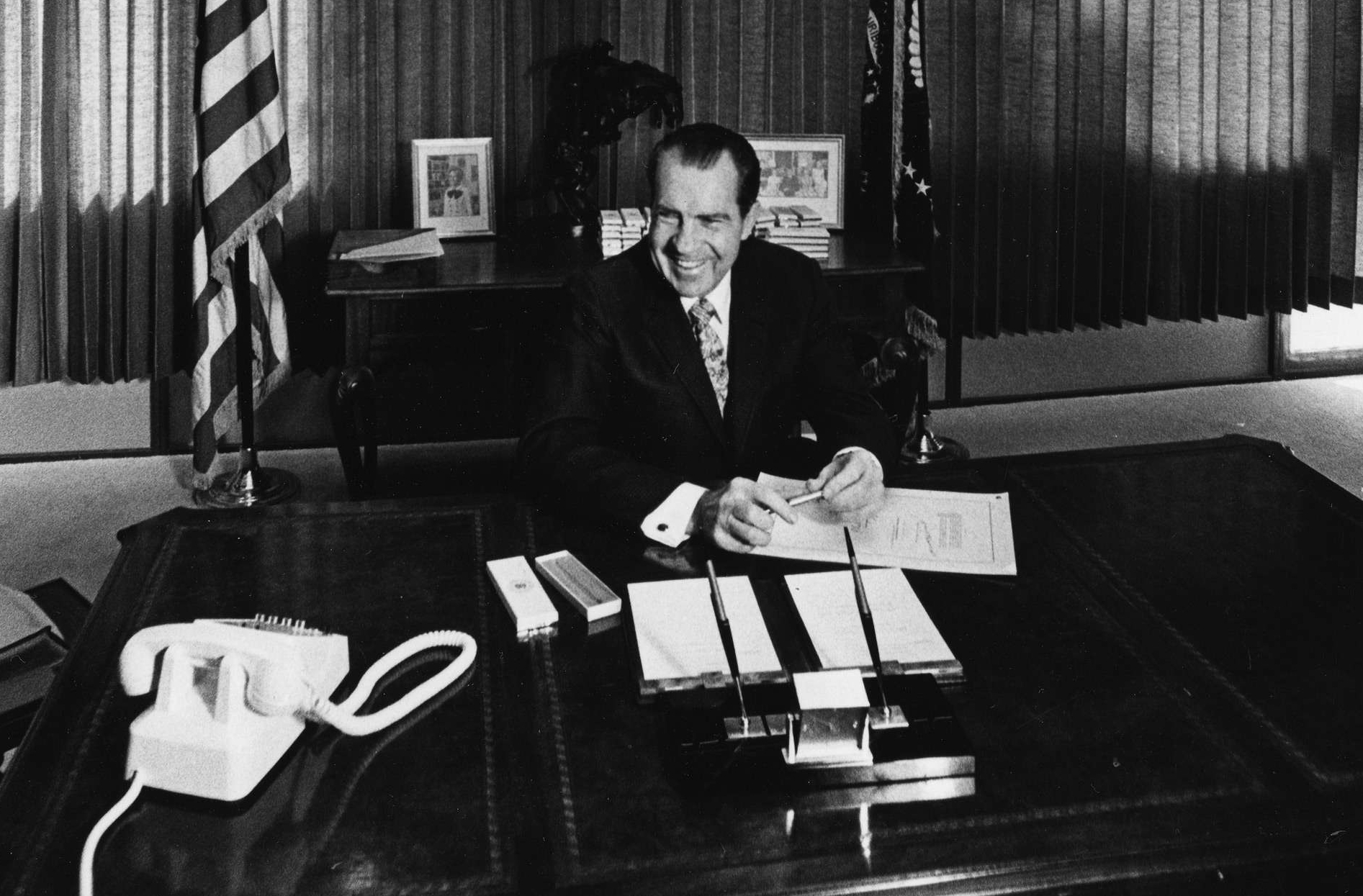 President Nixon Signing the National Environmental Policy Act of 1969