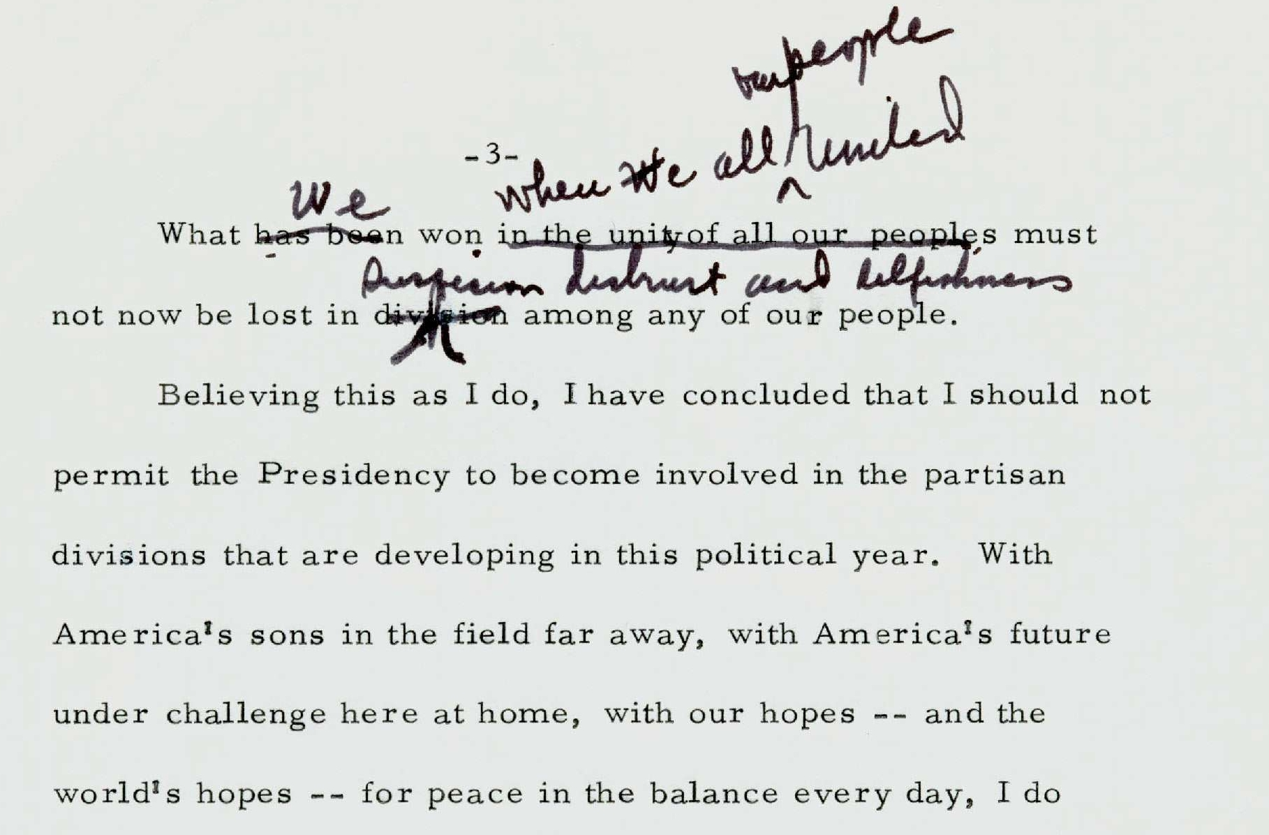 """Withdrawal Speech"" by President Johnson"