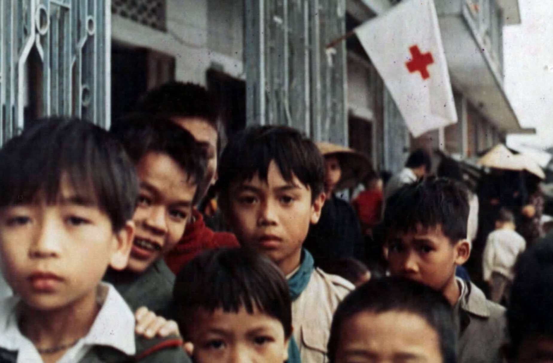 Vietnamese Children Outside the Viet Huong Refugee Center