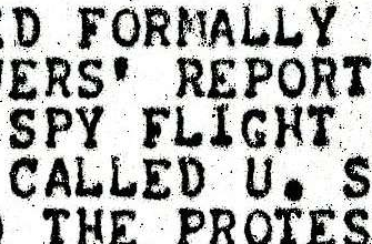 Press Clipping Regarding Norway Protest Against U.S. U-2 Overflight