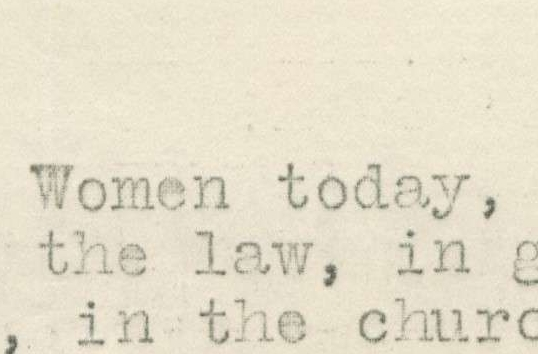 Letter from the Camden Branch of the National Women