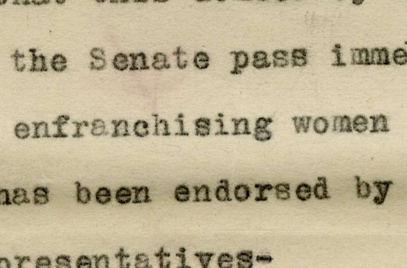 Resolution Demanding the Senate Pass the Susan B. Anthony Amendment