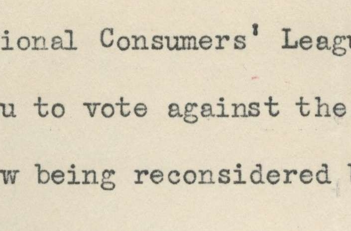 Letter from the National Consumers
