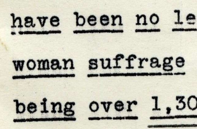 Letter from the American Constitutional League Regarding Woman Suffrage