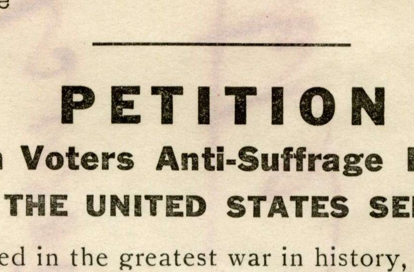 Petition from the Women Voters Anti-Suffrage Party of New York