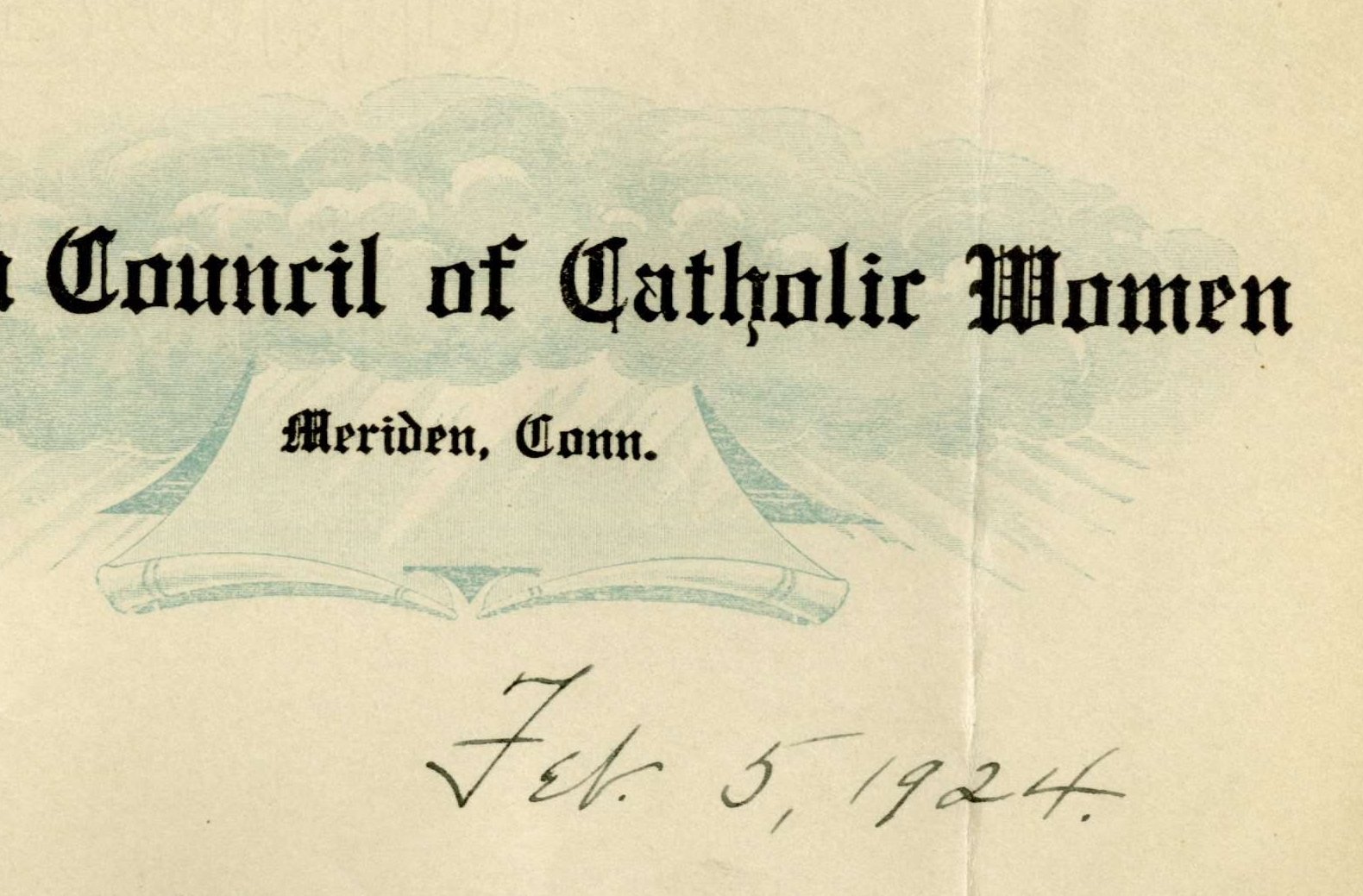 Petition from Connecticut Council of Catholic Women of Hartford and Meriden